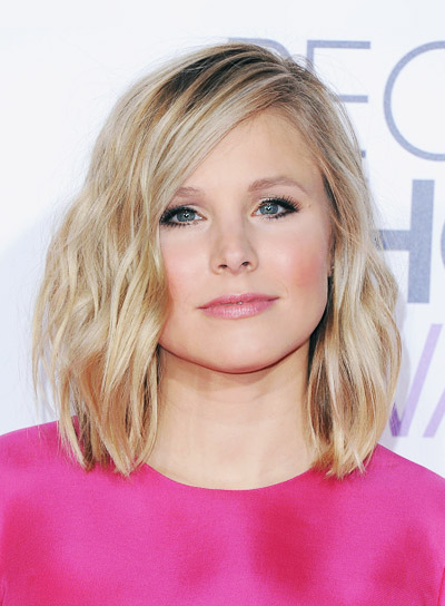 Kristen Bell with a Sexy, Tousled, Short, Blonde Hairstyle Pictures