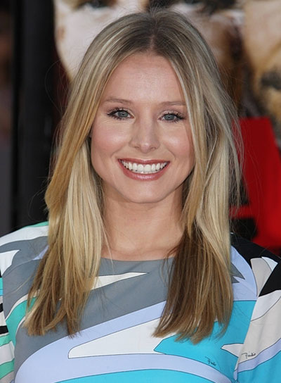 Kristen Bell Medium, Straight, Blunt Hairstyle