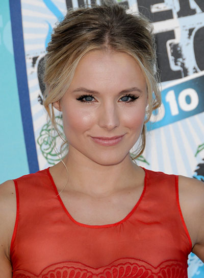 Kristen Bell Sexy, Tousled, Updo