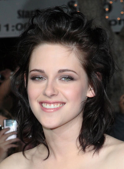 Kristen Stewart Romantic, Curly, Edgy Hairstyle