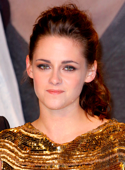 Kristen Stewart's Tousled, Brunette, Edgy, Chic Hairstyle