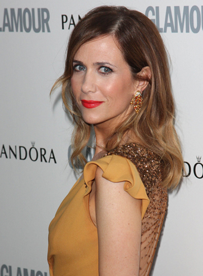 Kristen Wiig Medium, Wavy, Brunette, Hairstyle