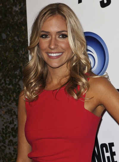 Kristin Cavallari Medium, Romantic, Curly, Blonde Hairstyle