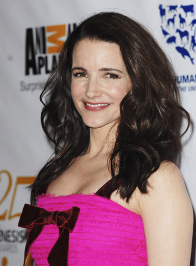 Kristin Davis Tousled, Sexy, Brunette Hairstyle