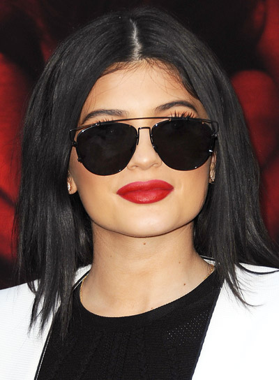 Kylie Jenner's Long, Black, Straight, Thick, Sophisticated Hairstyle