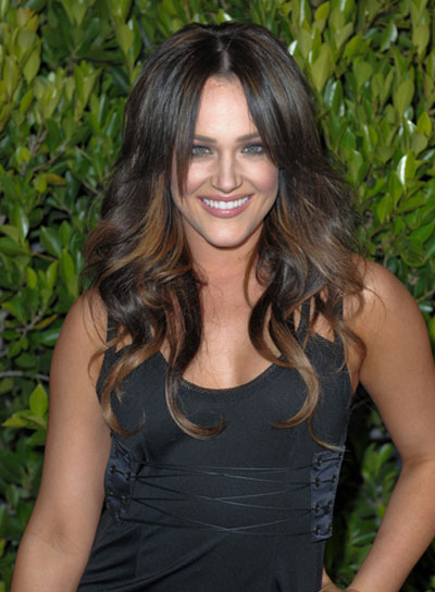 Lacey Schwimmer Long, Wavy, Brunette Hair