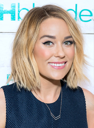 Lauren Conrad Short, Wavy, Blonde, Edgy Hairstyle
