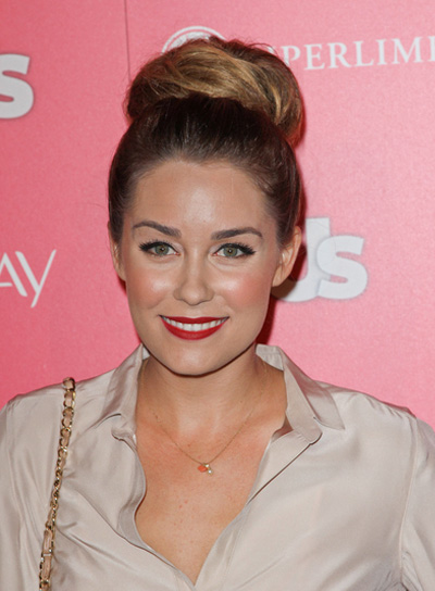 Lauren Conrad Long, Romantic, Brunette Updo