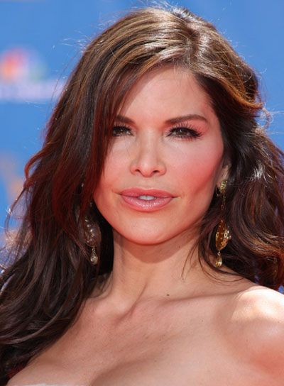 Lauren Sanchez Long, Tousled, Brunette Hairstyle