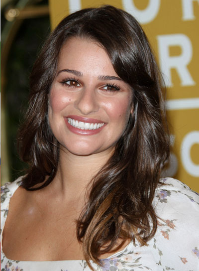 Lea Michele Long, Romantic, Brunette Hairstyle