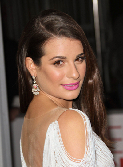 Lea Michele Long, Straight, Sexy, Chic, Brunette Hairstyle
