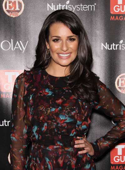 Lea Michele Long, Wavy, Sophisticated Hairstyle