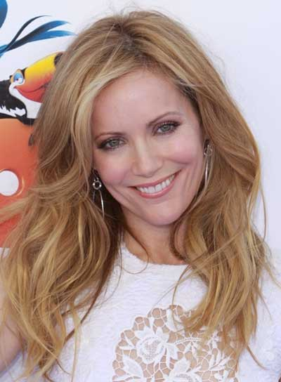 Leslie Mann Long, Wavy, Sexy, Blonde Hairstyle