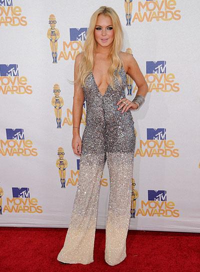 Lindsay Lohan Long, Blonde Hairstyle