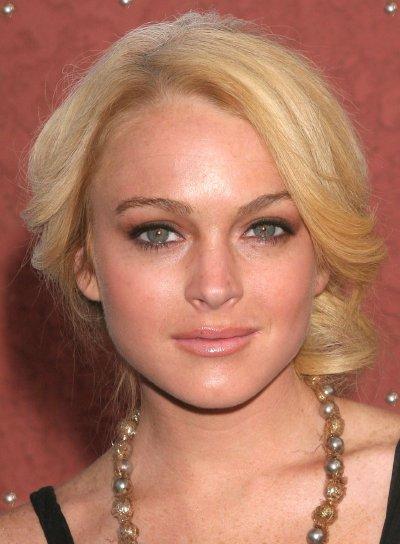 Lindsay Lohan Blonde Updo