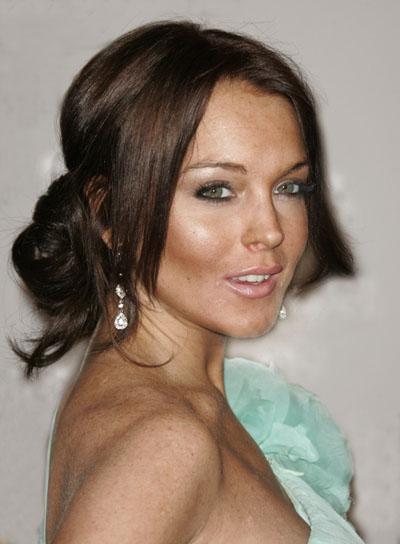 Lindsay Lohan Romantic, Brunette Updo