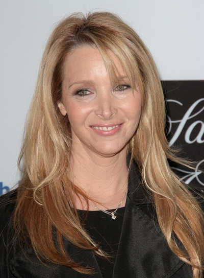 Lisa Kudrow's Long, Layered, Sophisticated, Blonde Hairstyle with Bangs