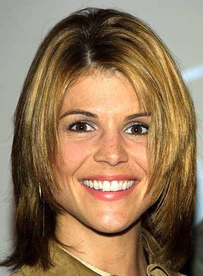 Lori Loughlin Short, Straight, Shag Hairstyle with Highlights