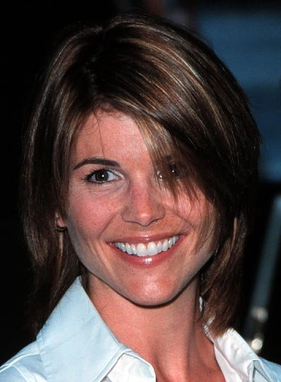 Lori Loughlin Short, Straight, Shag Hairstyle