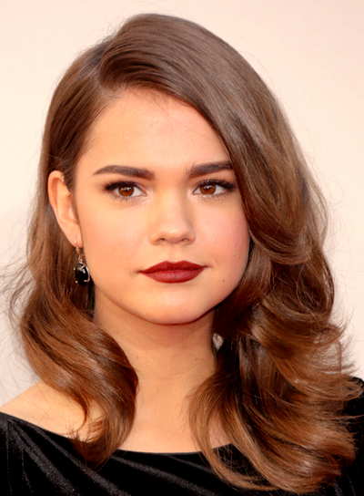 Maia Mitchell's Long, Brunette, Wavy, Sophisticated Hairstyle