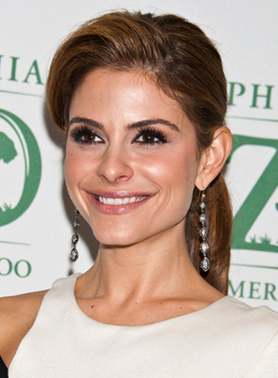 Maria Menounos' Funky, Party, Brunette, Ponytail, Hairstyle