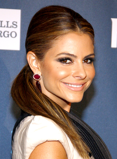 Maria Menounos's Long, Chic, Brunette, Ponytail Hairstyle