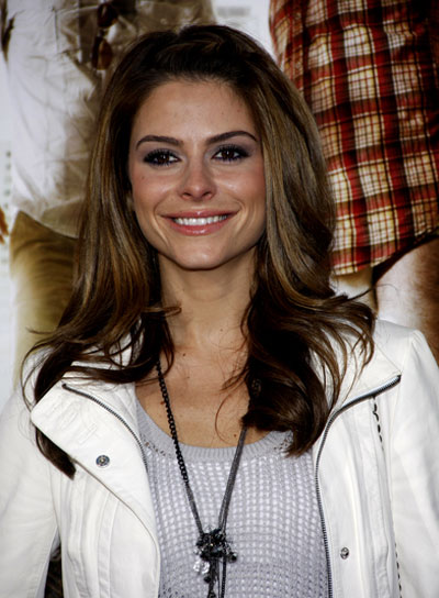 Maria Menounos Medium, Sophisticated, Brunette Hairstyle