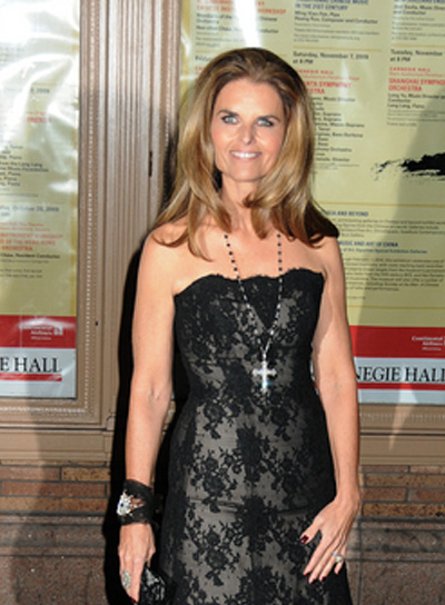 Maria Shriver Long, Straight, Brunette Hairstyle