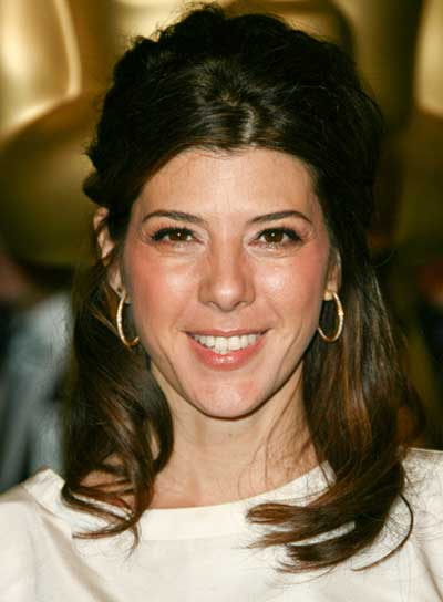 Marisa Tomei Medium, Sophisticated, Brunette Half Updo