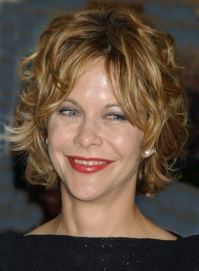 Meg Ryan Short, Tousled, Curly Hairstyle