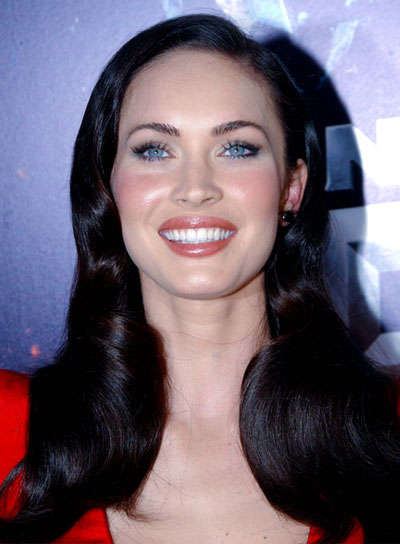 Megan Fox Medium, Romantic, Black Hairstyle