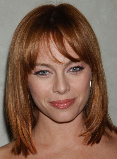 Melinda Clarke Straight, Layered, Red Bob
