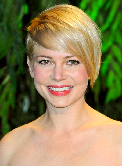 Michelle Williams' Blonde, Short, Party, Chic Hairstyle