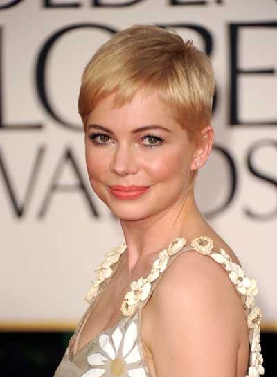 Michelle Williams Short, Straight, Blonde Hairstyle