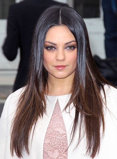 Mila Kunis Long, Straight, Sophisticated, Chic Hairstyle