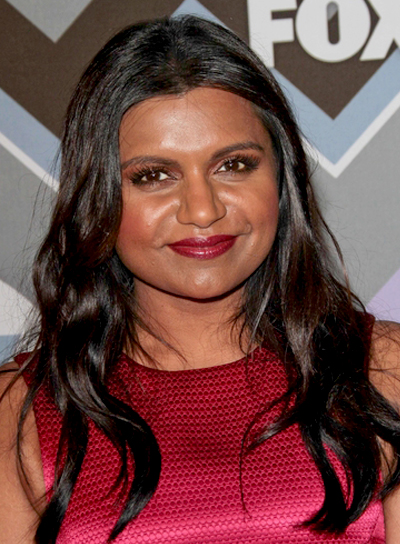 Mindy Kaling's Long, Wavy, Tousled, Romantic Hairstyle