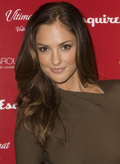 Minka Kelly Medium, Sexy, Brunette Hairstyle