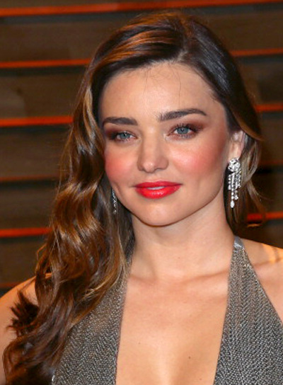 Miranda Kerr Romantic, Brunette, Long, Wavy Hairstyle Pictures