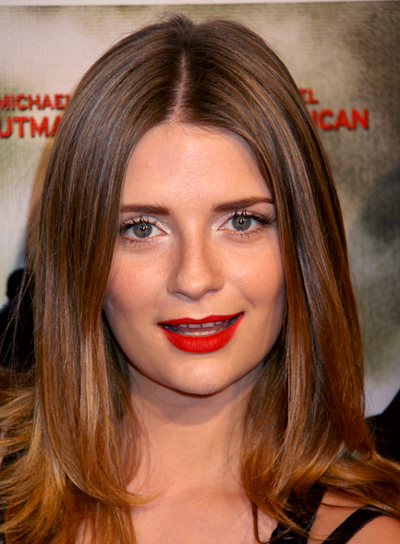Mischa Barton's Brunette, Medium, Straight, Chic Hairstyle