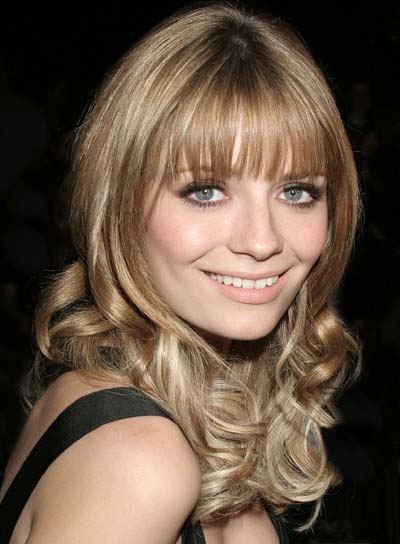 Mischa Barton Long, Curly Hairstyle with Bangs
