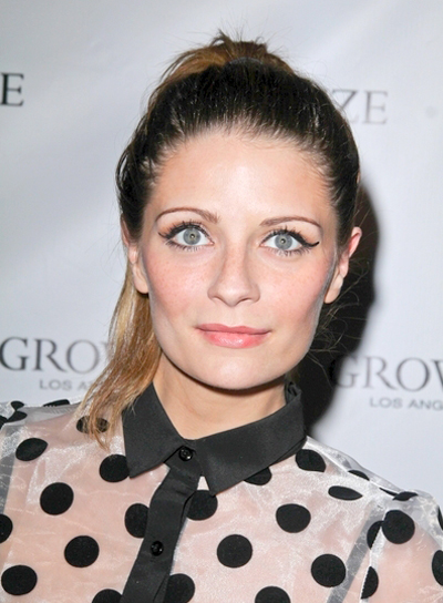 Mischa Barton's Wavy, Edgy, Updo, Ponytail Hairstyle