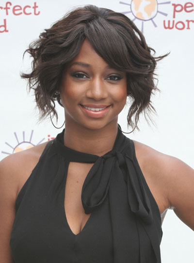 Monique Coleman Short, Wavy, Chic, Black Hairstyle