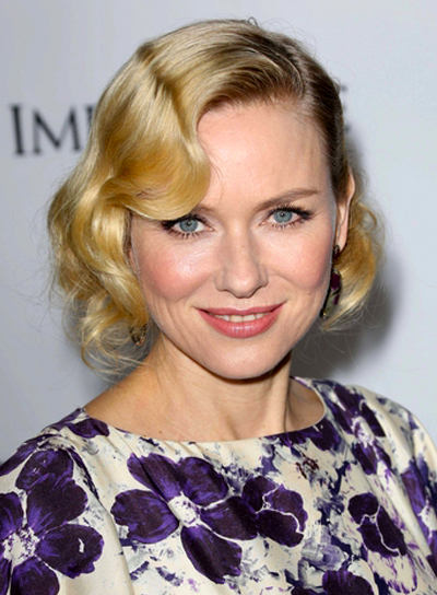 Naomi Watts' Wavy, Romantic, Blonde, Updo Hairstyle