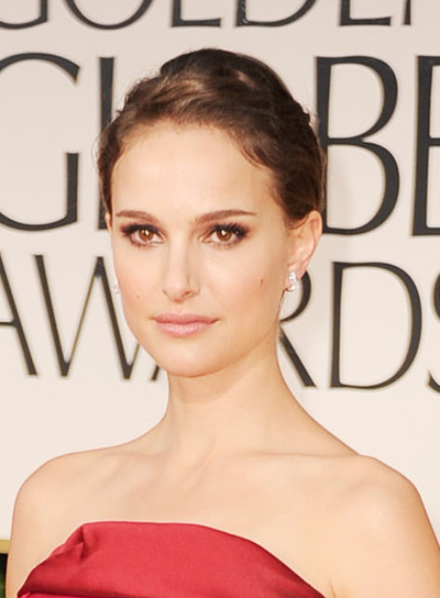 Natalie Portman Formal, Sophisticated, Brunette Updo