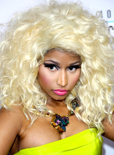 Nicki Minaj's Long, Blonde, Wavy, Tousled Hairstyle