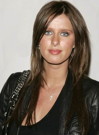 Nicky Hilton Sexy, Straight, Brunette Hairstyle