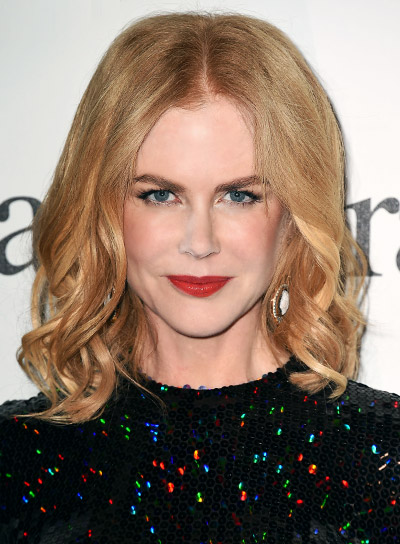 Nicole Kidman with a Medium, Blonde, Curly, Romantic Hairstyle