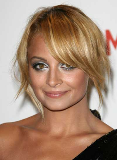 Nicole Richie Sophisticated Updo with Bangs
