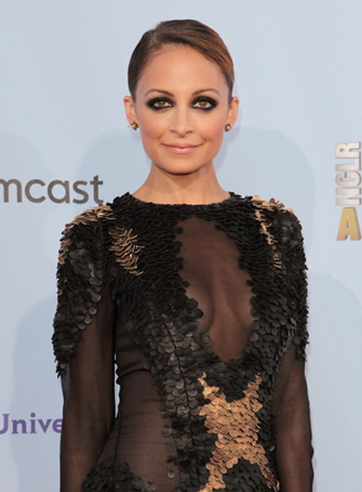 Nicole Richie's Chic, Sophisticated, Brunette, Updo Hairstyle