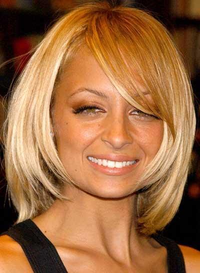 Nicole Richie Medium-Length, Straight, Blonde Bob for Parties